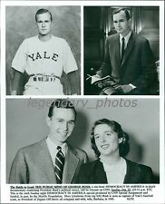 1940s George Bush at Yale, and With Wife Original News Service Photo