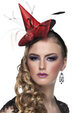 miniatura Sombrero de bruja Rojo BRUJA NUEVO - CARNAVAL SOMBRERO GORRO SOMBRERO