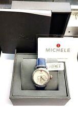 NEW MICHELE MW03T01A1058 CSX JARDIN DIAMOND WHITE MOP Blue Band WOMEN'S WATCH