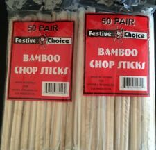 82 Pair Bamboo Chop Sticks by Festive Choice Individually Wrapped