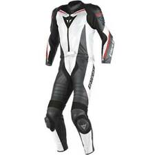 Tute in pelle e altri tessuti in pelle bovina con protezioni rimovibili per motociclista taglia 50