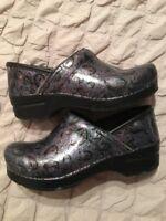 Dansko Water Drop Printed Clogs Shoes Occupational Size 37 6.5 - 7 Nursing