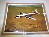 Vintage Western Airlines Electra JET by Lockheed Print Laminated