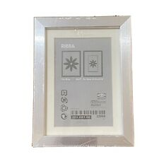 """IKEA Ribba Silver Box Photo Picture Frame 5"""" x 7"""" Freestanding Shadow Box 3D"""