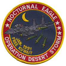 Operation Desert Storm 1991 Gulf War Kuwait 'Nocturnal Eagle' Embroidered Patch