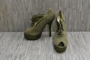 Paige by Terry de Havilland Emma Platform Heels-Women's Size US:6 / EU:36, Olive
