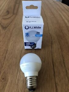 As NEW PJ White E27 7W LED Dimmable Globe 500 lumen 4000K Bulb