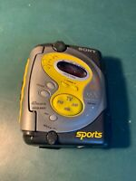 SONY SPORTS WALKMAN WM-FS221 CASSETTE AM/FM TV WEATHER Digital Tuner