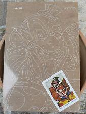 NUOVO Tavola Tavoletta legno compensato prestampata hobby mod clown 2