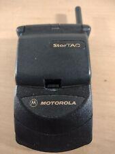 Vintage Motorola StarTac Black Flip Cellular Phone Swf0342 * Not Working * | A2