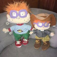 "1997 Mattel Viacom Rugrats Chuckie Finster 14"" Plus Safari Lot Toys W/ Tag"
