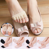 Women Silicone Anti-slip Open Toe Sock Invisible Forefoot Support Foot Pad Socks