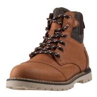 Toms Ashland Waterproof Mens Brown Leather & Textile Casual Chukka Boots Lace-up