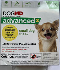 New Dog Md Advanced 2 Topical Flea & Tick Small Dog 3-10 lbs 4 Mos Supply Dogmd