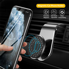 L Shape Magnetic Car Phone Holder For Cell Phone 360 Degree Air Vent Mount GPS