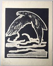 GRAVURE ART DECO Aigle royal eagle de PAUL JOUVE