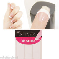 10Sheets French Manicure Tip Guides Strip Nail Art Toes Stencil Stickers Decal