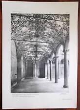 Stampa 1913 MILANO CASA PONTI VIA BIGLI 51 x 36 cm Architettura Rinascimento