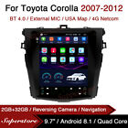 """9.7"""" Tesla Style Android Car Stereo GPS For Toyota Corolla 2007-2012"""