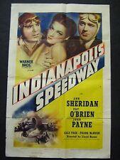 INDIANAPOLIS SPEEDWAY '39 ANN SHERIDAN PAT O'BRIEN JOHN PAYNE ULTRA RARE 1SH