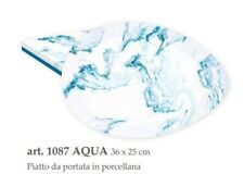 EASY LIFE PIATTO PORTATA 36x25 cm linea AQUA easylife porcellana made in italy