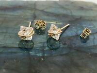 Herkimer Diamond Stud Earrings Quartz Crystal 14k gold filled (small size)