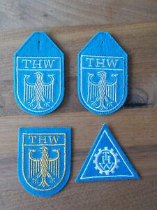 4 Aufnäher bzw. Ärmelabzeichen des THW / Technisches Hilfswerk / KatS