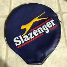 Vtg Slazenger Squash Badminton Racket Vinyl Cover Jacket w/ Panther Logo