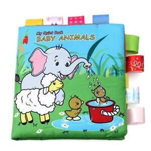 Cartoon Baby Stoff Buch Buntes frühes Lernen Montessori Ruhige Bücher Babys