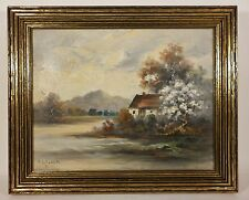 Listed Artist EUGENE LA FORET New York NY Cottage Spring Oil Painting