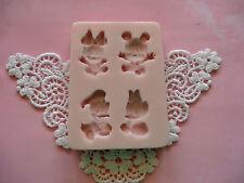 Disney Babies Mickey Minnie  Mouse   & friends silicone mold fondant cake FDA