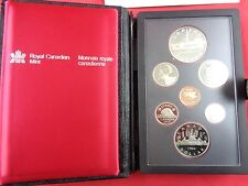 1984 Royal Canadian Mint Proof Set, Elizabeth ll D.G. Regina Silver Dollar w/Box