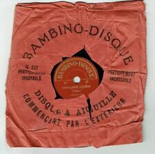 78T 15 cm Pygmo Disque Phono CAVALERIE LEGERE - MOI M'ENCOURIR Chant BAMBINO 21