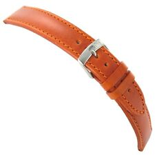 20mm Morellato Genuine Leather Padded Stitched Rust Brown Watch Band Strap 1680
