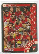 2013 Teamcoach Gold Check List (16) SYDNEY