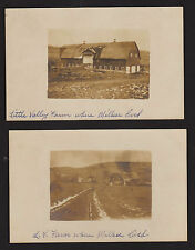 Unique 1910 RPPC Set of 2 - Rural Farm Barn Road - Little Valley NY Real Photos