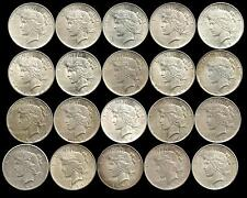 1 Roll of 20 Coins___Mixed Peace Silver Dollars___XF-BU___#1257LI28