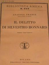 ANATOLE FRANCE - IL DELITTO DI SILVESTRO BONNARD 1929