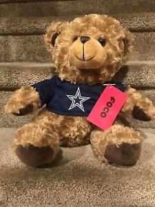 NFL Dallas Cowboys Seated T-Shirt Tan Plush Teddy Bear, No Stripe, New With Tags