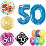 Age 50 - Happy 50th Birthday Qualatex Balloons {Helium Party Balloons Boy/Girl}