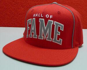 NEW Hall of Fame Snap Back Baseball Cap Red Hat Unisex Felxifit 2nd Sucks $49.99