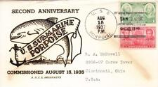 1938, Uss Porpoise, Ss-172, 2nd Anniversary (N4729)