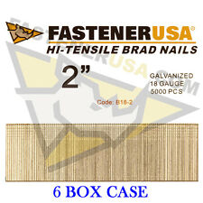 "2"" 18 Gauge Straight Brad Finish Nails 18 ga (5,000 ct) (Case of 6)"