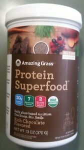 Amazing Grass Protein Superfood,All-In-One Nutrition Shake 13 oz 10/2022 Choc.