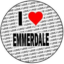 "I Love Emmerdale - Round 8"" 20cm Icing Cake Topper Decoration - Birthday Event"