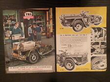 PEUGEOT TRI à moteur 57 TNO,TN,TNC / catalogue brochure dépliant 1 feuille 21x27