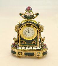 Orologio da scrivania Edward - Bicchielli con smalti verdi e cristalli