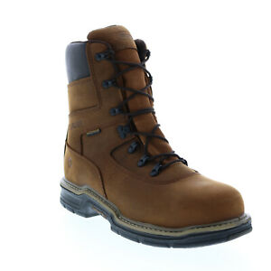 Wolverine Marauder 8 W02163 Mens Brown Extra Wide Leather Work Boots