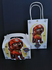 Paw patrol inspired Zuma character birthday party12 goody bags or10 candy boxes.