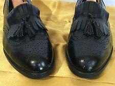 Barrington Mens Shoes Black Leather with Tassel and Kilte Sz 10.5D